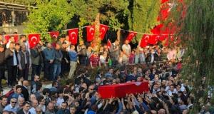 Şehidimizin Yusuf Önder'in son yolculuğuna uğurladık