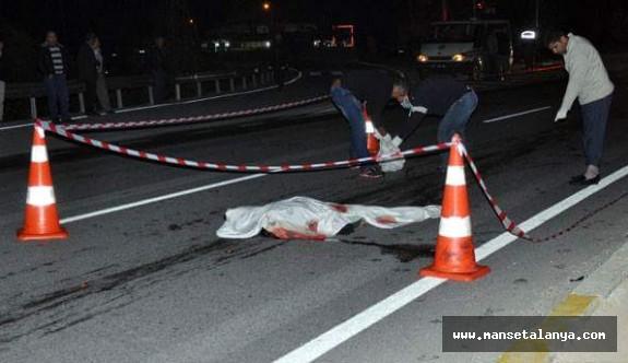 Manavgat feci kaza:1 ölü