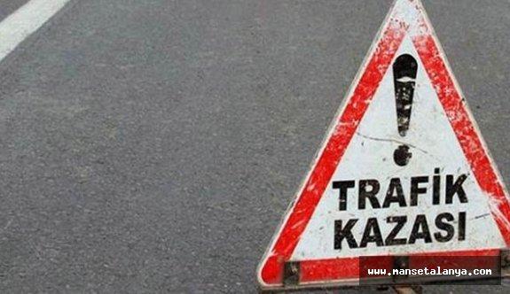 Alanya'da feci kaza: 2 yaralı