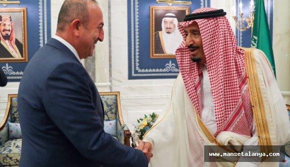 Dışişleri Bakanı Çavuşoğlu, Kral Selman'la görüştü