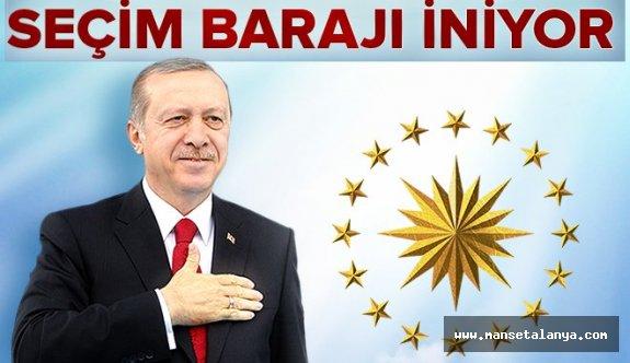 Erdoğan düğmeye bastı. Seçim barajı iniyor