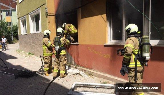 Gazipaşa'da ev yangını..:!