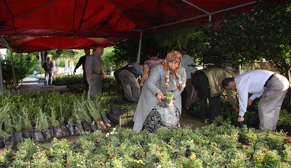 O gün Alanya'da mezarlıklarda çicekler ücretsiz