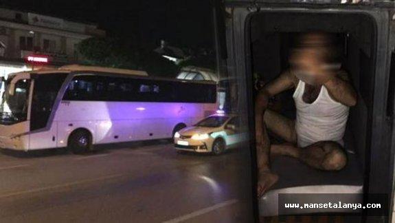 Tur otobüslerine şok baskın