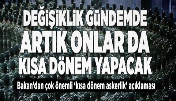 Bakan Faruk Özlü'den 'kısa dönem askerlik' açıklaması