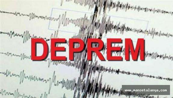 Akseki'de 3.5 büyüklüğünde deprem