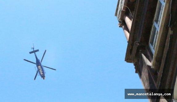 Alanya'da hava destekli uyuşturucu operasyonu