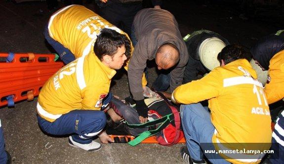 Alanya'da üzücü kaza