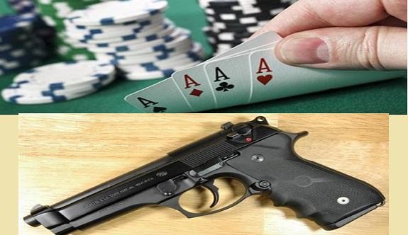 Alanya'daki kumar baskınında ruhsatsız tabanca