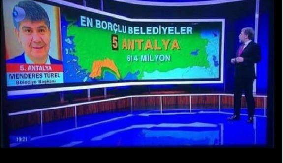 Antalya Büyükşehir Belediyesi en borçlu 5. il oldu