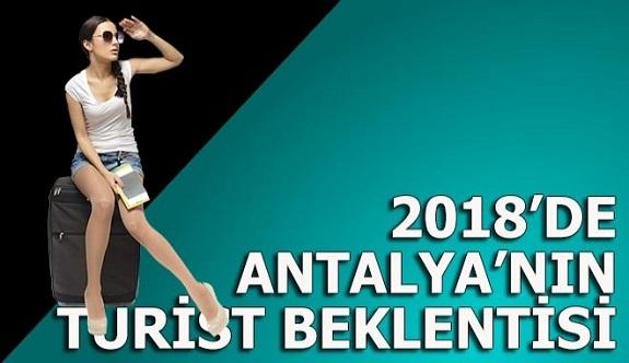Antalya'nın 2018 turizm beklentisi, 20 milyon insan hareketliliği