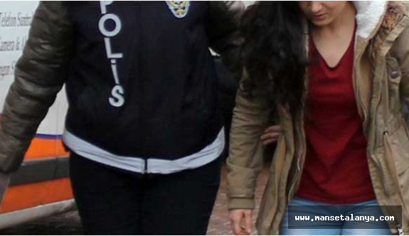 Alanya'da 1'i kadın 15 şüpheli gözaltında