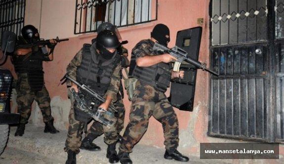 Alanya'da PKK operasyonu