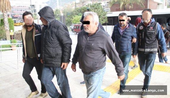 Alanya'daki tefeci olayında tutuklananların isimleri