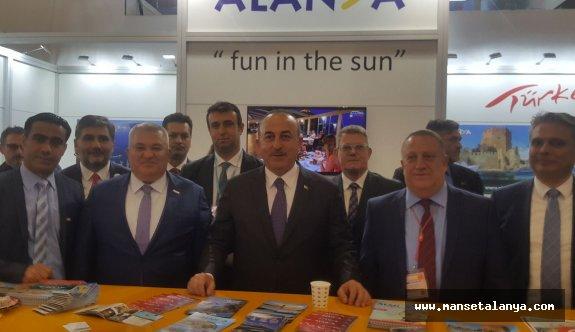 Bakan Çavuşoğlu, Almanya'da Alanya standında