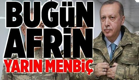 Bugün Afrin, yarın Menbiç