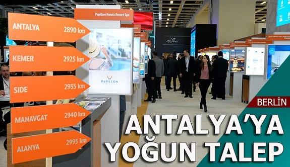ITB Berlin'de Antalya'ya yoğun talep
