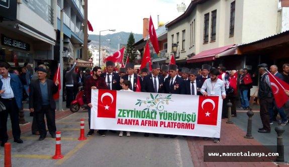 Mehmetçiğimize destek yürüyüşü
