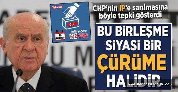 Bahçeli'den CHP'den gelen istifalara ilk tepki