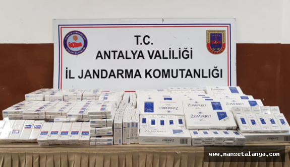 Gazipaşa'da kaçak sigara operasyonu