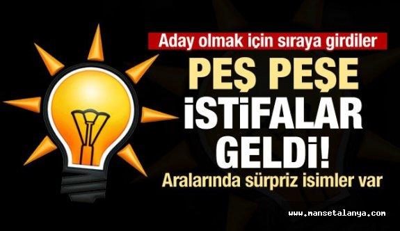 Türkiye genelinde AK Parti'de aday mesaisi: peş peşe istifalar geldi