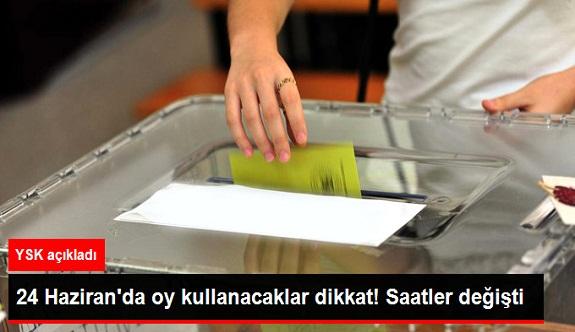 YSK açıkladı! Oy kullanma saatleri değişti