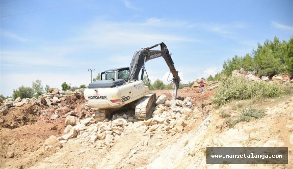 Alanya belediyesinin mahallelerinde hummalı çalışma