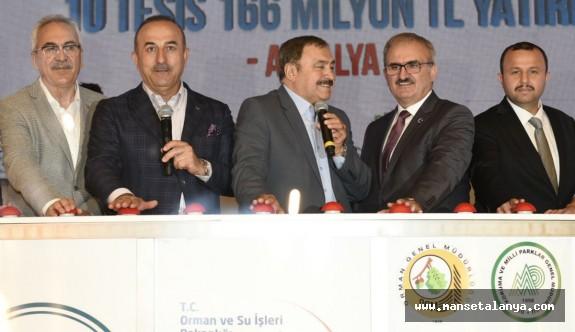 Antalya'da 8 tesisin temeli atıldı, 2 tesis açıldı
