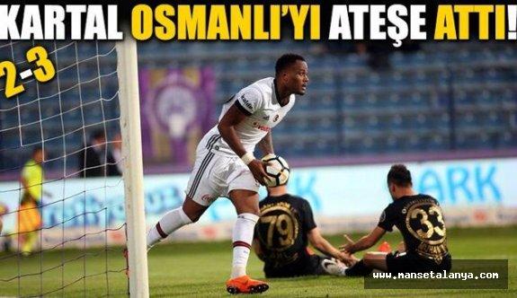 Osmanlıspor-Beşiktaş maç sonucu: 2-3