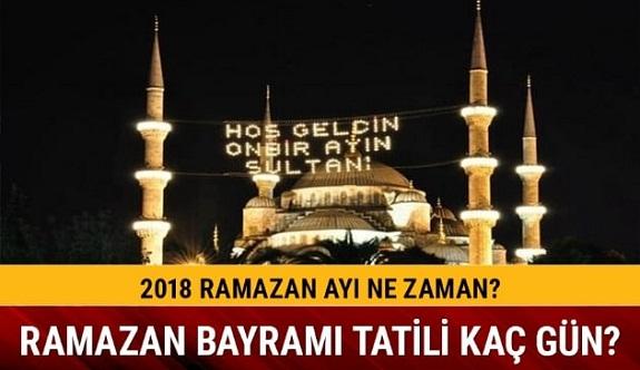 Ramazan ne zaman başlıyor? İlk oruç hangi gün?