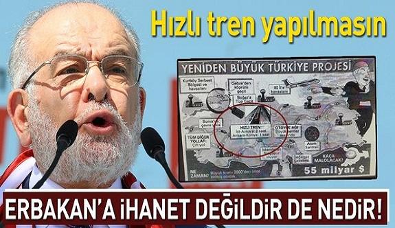 """SP Genel Başkanı Karamollaoğlu: """"Hızlı tren hizmet değil"""""""
