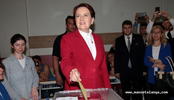 Akşener'in oy kullandığı sandıktan Cumhurbaşkanı Erdoğan çıktı
