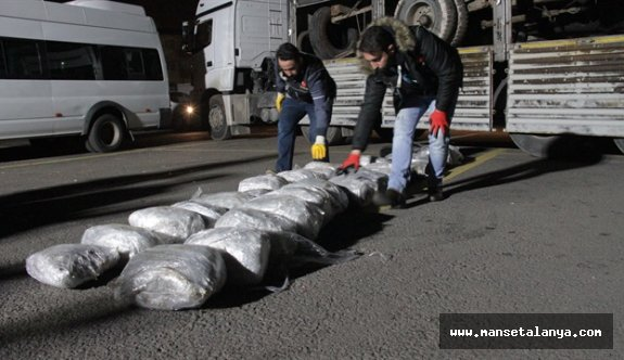Antalya'da 1 milyon TL değerinde uyuşturucu