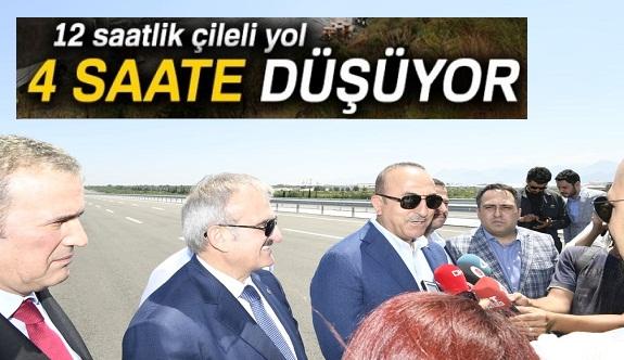 Mersin-Antalya yolu 4 saate düşüyor