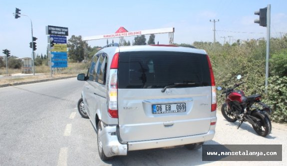 Alanya-Manavgat arasında 2 ayrı motosiklet kazası
