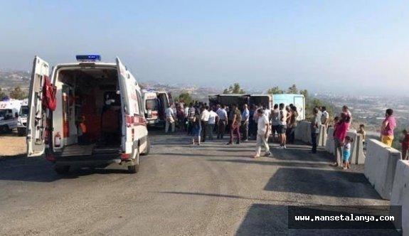 Alanya'da kermes dönüşü büyük kaza