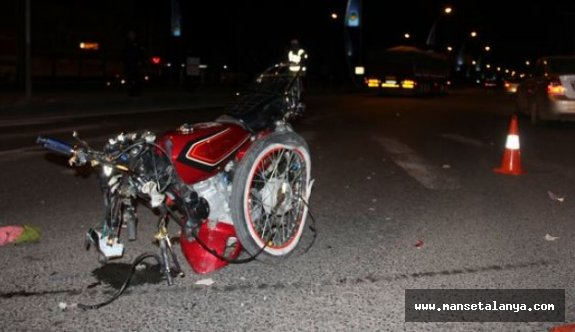 Alanya'da motosiklet kazası: 1 ölü