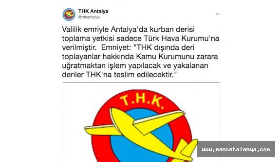 Antalya'da THK'nın deri toplama paylaşımı ortalığı karıştırdı