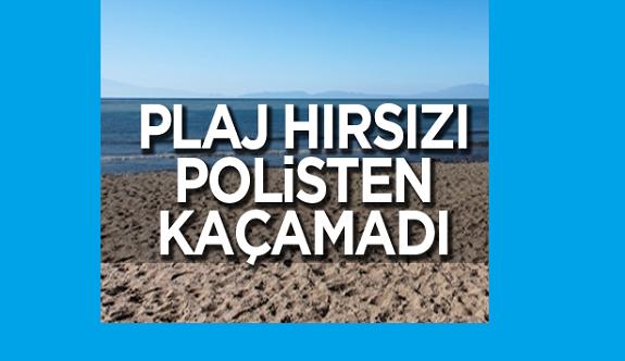 Alanya'da plaj hırsızı yakalandı