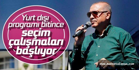 Başkan Erdoğan'ın yerel seçim hazırlığı