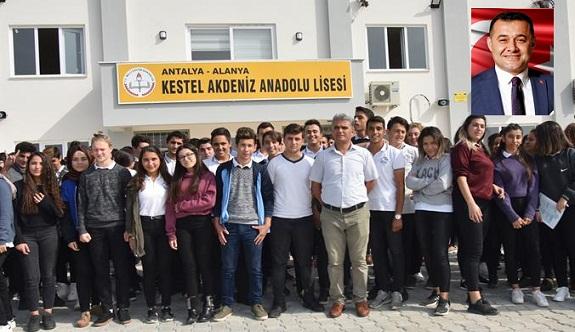 Kestel Akdeniz Anadolu lisesinden Başkan Yücel'e teşekkür