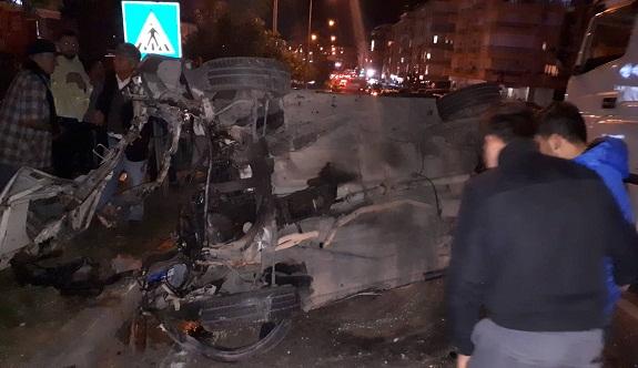 Alanya Çevre yolu kavşağında kaza