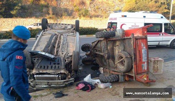 Alanya da feci kaza: 1 yaralı