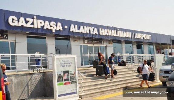 Alanya-Gazipaşa havalimanı verilerine göre...
