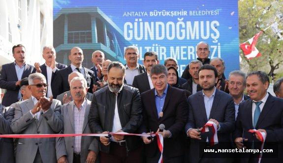 Gündoğmuş Kültür Merkezi Açıldı