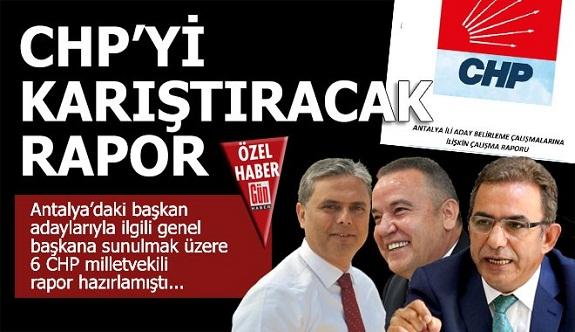 Antalya CHP'yi karıştıracak aday raporu. Alanya'nın da ismi geçiyor...