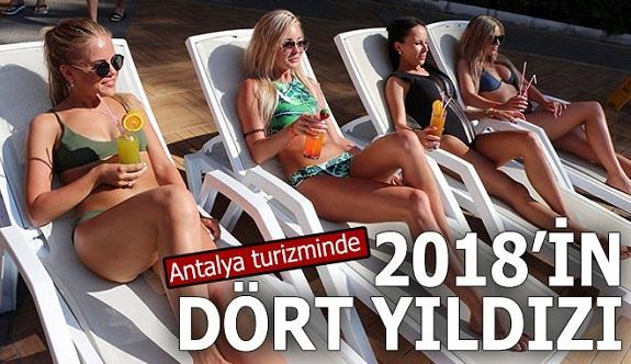 Antalya turizminde 2018'in dört yıldızı
