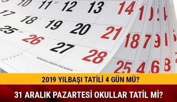 Yılbaşı tatili 4 gün olacak mı 31 Aralık tatil mi MEB açıklaması 2019 Yılbaşı tatili kaç gün