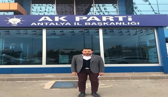 Ak Parti Alanya'da ilk meclis üyesi adaylığı için başvuru!