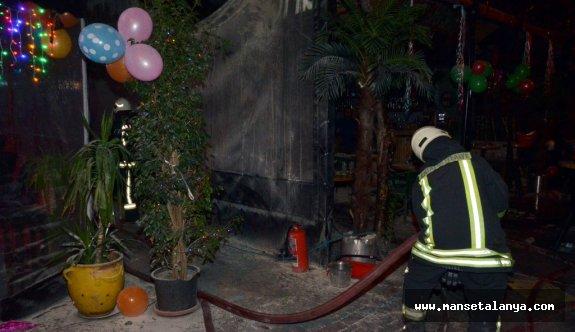 Alanya da yeni yılın ilk yangını